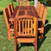 Patio Table L Redwood Patio Table Custom Made Redwood Dining Tables