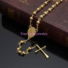 crucifix gold necklace images Newest design men women 39 s stainless steel pendant necklace gold jpg