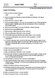roman numerals 100 word problems workbook with detailed