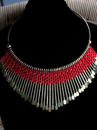 red collar necklace images Colorful tribal spike collar necklace JPG