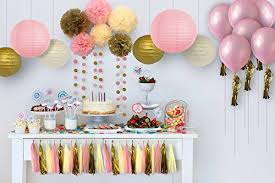 pink and gold party supplies 32pc pink and gold party supplies 1st birthday ivory pink and
