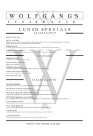 Filet Mignon Menu Lunch Menu Wolfgang U0027s Steakhouse U2013 Midtown East Nyc