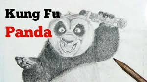 kung fu panda speed drawing fan art youtube