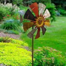 metal wind spinner sun catcher hanging garden ornament sunburst 6