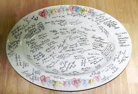guest plate guest book platter wedding tips and inspiration