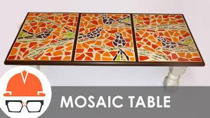 how to make a mosaic table top rare genaro alvarez brass and glass tile six piece mosaic coffee