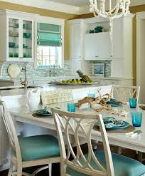 themed kitchen turquoise blue white theme kitchen paradise found