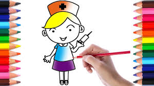 nurse coloring pages fun coloring activity for kids toddlers