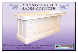 Retail Desk Country Style Sales Shop Reception Counter