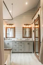 rustic modern farmhouse bath tour this modern farmhouse bathroom before after irwin