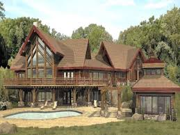 Luxury Log Home Plans Large Cabin House Plans Adhome