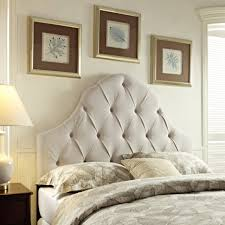 bed white tufted headboard full size king bed headboard