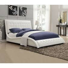 Leather Upholstered Bed Shop Leather Tufted Headboard On Wanelo