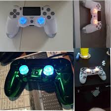 diy new transparent analog thumbsticks thumb stick led light for