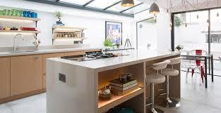 caesarstone quartz worktops feature in kitchen expansion