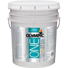 shop olympic one tintable satin latex enamel interior paint and