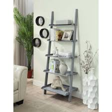 Sauder Five Shelf Bookcase by Convenience Concepts American Heritage 5 Shelf Ladder Bookcase