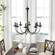 Dining Room With Chandelier Rubbed Bronze Chandeliers You Ll Wayfair