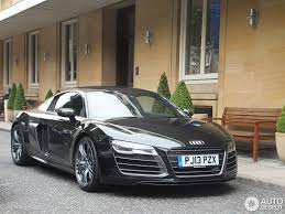 audi supercar black audi r8 v10 plus 2013 14 june 2013 autogespot