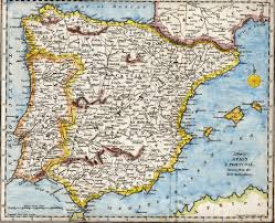 Spain On A Map Iberian Peninsula Wikipedia