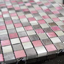 online shop pink aluminum alloy metal mosaic tiles ehm1062 for