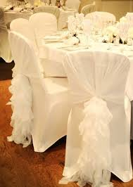 White Banquet Chair Covers Ready To Ship Ruffled Chair Sash Chiffon Chair Sash By Vowwowdecor