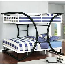 Metal Bunk Bed Ladder Bedding Beautiful White Metal Bunk Beds Details About New Triple