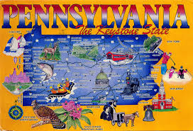 Amish Pennsylvania Map by World Come To My Home 1060 United States Pennsylvania
