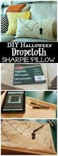 Make At Home Halloween Decorations by Diy Dropcloth Sharpie Pillow For Halloween Sharpie Pillow Diy
