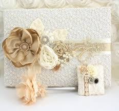 ivory wedding guest book ivory wedding guest book and pen vintage inspired by solbijou