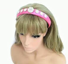 jewelled headband diamante jewelled headband hair band in padded candy pink pearl
