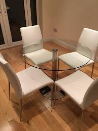 glass dining table and 4 chairs 100cm john lewis table danetti