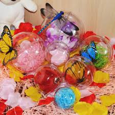 cute christmas tree decor ornament ball type box clear