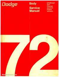 continental red seal manual 1972 dodge challenger dart charger coronet polara monaco body