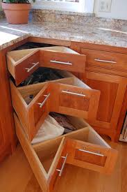 Roll Out Trays For Kitchen Cabinets 30 Corner Drawers And Storage Solutions For The Modern Kitchen
