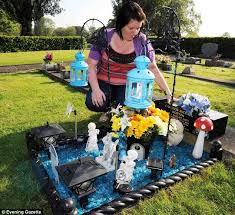 s disgust after thieves trash s grave daily mail