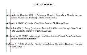 panduan penulisan daftar pustaka dari jurnal cara menulis daftar pustaka kumpulan referensi gratis kuregis