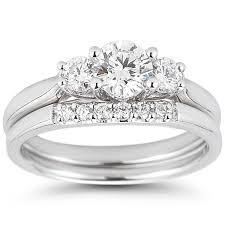 wedding set brilliant 1 00 ctw vs2 clarity i color diamond platinum
