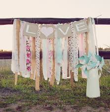 Shabby Chic Tablecloth by Wedding Banner Love Rag Tie Galand Banner Shabby Chic