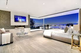 this bedroom has a large television fit for the deluxe master bedroom the wall