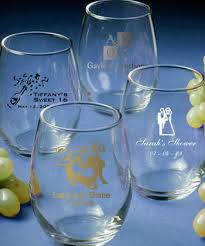 wine glass gift 9 ounce personalized stemless wine glasses gift boxes available