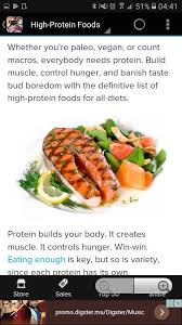 healthy high protein meals android apps on google play