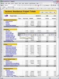 Estimate Template Excel Uda Estimating 2003 Construction Estimating Templates