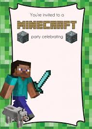 minecraft birthday invitations minecraft birthday invites minecraft birthday invites for the