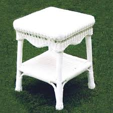 white wicker end table sahara all weather resin wicker end table cdi 001 et