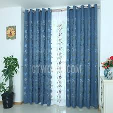 Embroidered Curtain Panels Exquisite Embroidered Floral Pattern Country Style Quality Linen