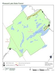Road Map Of Ny State by Pleasant Lake State Forest Map Nys Dept Of Environmental