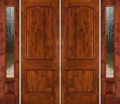 Wooden French Doors Exterior by Rustic Double Doors With Sidelights Solid Wood Double Doors