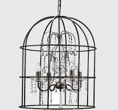 Antique Black Chandelier Metal Birdcage Chandelier With Crystals Antique Farmhouse