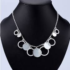 silver necklace womens images Free shipping quality women 39 s rose style 925 silver necklace jpg